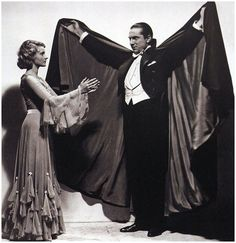 """"""" Helen Chandler and Bela Lugosi in a publicity photo for """"Dracula"""" """" Best Horror Movies, Classic Horror Movies, Scary Movies, Old Movies, Frankenstein, Personnage Dc Comics, Helen Chandler, Lugosi Dracula, Dracula Costume"""