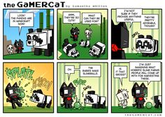 Gesundheit Gamer Cat, How To Play Minecraft, Baby Makes, Comics, Creative, Cute, Books, Health, Libros