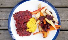 Rödbetsbiffar med curryremoulad