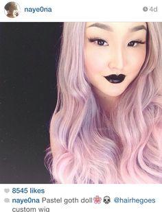 New Hair Pink Dark Eyebrows Ideas Hidden Rainbow Hair, Pastel Rainbow Hair, Pastel Pink Hair, Hair Color Purple, Cool Hair Color, Blue Hair, Pastel Goth, Work Hairstyles, Trendy Hairstyles