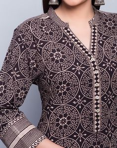 Buy Fabindia Cotton Cambric Border Detail Long Kurta Online- Fabindia.com