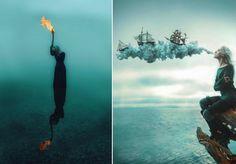 As imagens parecem saídas de um sonho ou, algumas vezes, de um pesadelo, mas são apenas criações da fotógrafa (e, mais do que isso, artista)Kindra Nikole. É assim que o universo onírico imaginado por ela ganha vida em suas fotografias. Ainspiração vem dos filmes de Hayao Miyazaki ou dos livros de J.R.R. Tolkien, mas as influências em seu trabalho são muitas e giram em torno de realidades fantásticas. As fotografias de Kindra costumam mostrar uma personagem solitária, quase sempre em meio à…