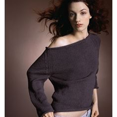 boat neck jumper to knit