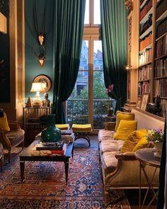 Dream Home Design, Home Interior Design, Interior Architecture, House Design, Vintage Interior Design, Living Room Decor, Living Spaces, My New Room, Cheap Home Decor