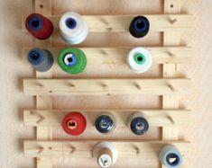 présentoir mural ou à poser pour 35 cônes, accessoire meuble couture