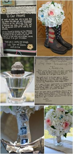 Country Wedding, Boots, Photography Collage