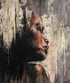 Figurative art - darksilenceinsuburbia Joshua Miels Eileen, 2011 Oil on canvas Abstract Portrait, Portrait Art, African American Art, African Art, Art Visage, Figure Painting, Face Art, Figurative Art, Creative Art