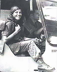 Denby Fawcett one of many female war correspondents who covered the Vietnam war. When General Westmoreland bumped into her at a remote base he tried to get female journalists banned from the field.