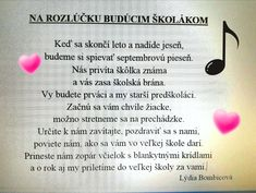 mladšie deti sa lúčia s predškolákmi - báseň In Kindergarten, Montessori, Children, Kids, Poems, Preschool, Jar, Education, Young Children