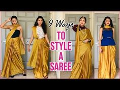 Happy Diwali everyone! Today I'm gonna show you some stunning ways to style a simple basic saree! Simple Saree Designs, Simple Sarees, Blouse Designs, Saree Wearing Styles, Saree Styles, Saree Designs Party Wear, Diwali Outfits, Drape Sarees, Lehenga Saree Design