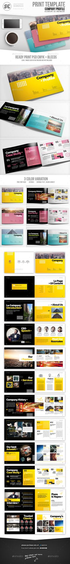 Company Profile Template Vector Free Vector Download In AI, EPS