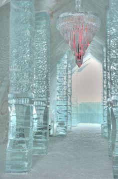 Ice Hotel in the village of Jukkasjarvi, Sweden