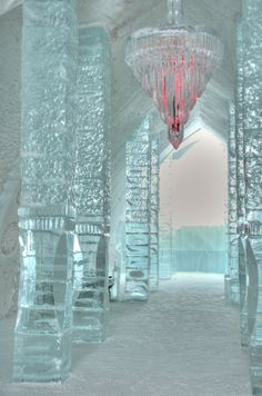 Ice Hotel in the village of Jukkasjarvi, Sweden.