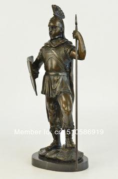 Bronze-Statue-on-Marble-font-b-Roman-b-font-font-b-Soldier-b-font-Spartan-Warrior.jpg (994×1500)