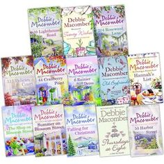 Debbie Macomber - Cedar Cove Collection ( 13 Books ) Each book continues to the next book. I Love Books, Good Books, Books To Read, My Books, Beach Reading, Kids Reading, Reading Books, Cedar Cove, Debbie Macomber