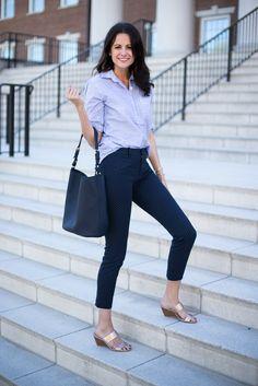 GiGi New York | Navy Emma Hobo | The Miller Affect Fashion Blog