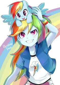 Rainbow Dash pony and Equestria Girl!