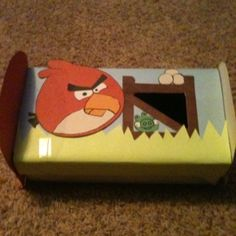 homemade valentine boxes   Angry Birds Valentine box.   Be mine