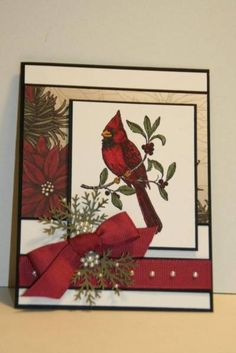 SC301 A Cardinal Christmas by sn0wflakes - Cards and Paper Crafts at Splitcoaststampers