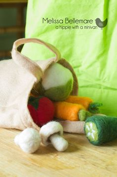 WaldorfInspired Needle Felted Vegetables by ahippiewithaminivan