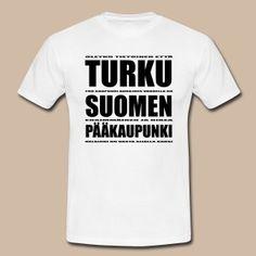 Turku Suomen pääkaupunki (musta teksti) - Miesten t-paita