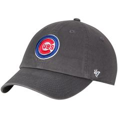 Chicago Cubs  47 Circle Big Logo Clean Up Adjustable Hat - Charcoal 51f569a0e50