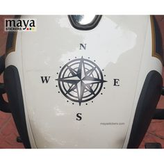 Compass decal for cars, bikes, and laptops Star Stickers, Custom Stickers, Logo Sticker, Sticker Design, Car Decals, Vinyl Decals, Yellow Color Combinations, Enfield Bike, Enfield Classic
