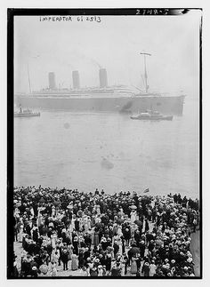 *Photo shows the S.S. Imperator, an ocean liner of the Hamburg America Line in New York City. The Imperator arrived in New York City on June 19, 1913.