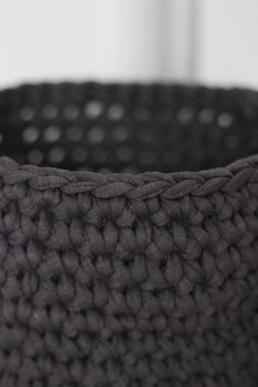 this is brilliant. Why didn't I think of doing that?!? diy crocheted basket tutorial