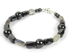 Holistic Jewelry - Magnetic Hematite and Labradorite Bracelet w/ Magnetic Clasp $20.00