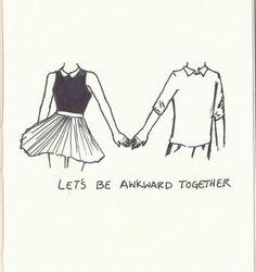 Cute. Awkward. Couple. Love