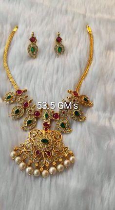 Pearl Necklace Designs, Beaded Jewelry Designs, Jewelry Design Earrings, Gold Earrings Designs, Gold Jewellery Design, Silver Wedding Jewelry, 18k Gold Jewelry, Mango Necklace, Gold Necklace
