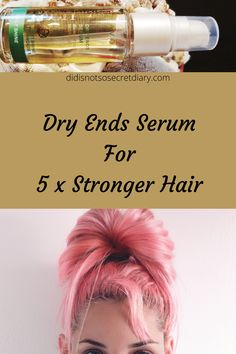 Dry Ends Serum For 5X Stronger Hair, leaves hair looking healthy and helps smooth dry damaged hair...find out more... #dry#hair#products