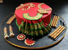 Birthday Cakes For Women, Cool Birthday Cakes, Birthday Cake Girls, Birthday Beer, Birthday Ideas, Indian Cake, Indian Wedding Cakes, Indian Weddings, New Cake Design