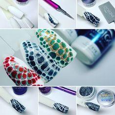 Winter Snake Skin by Indigo Educator Monika Terlecka #nails #nail #indigo #indigonails #skinsnake #winternails #sexynails #sexy #hotnails
