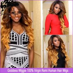 Cheap Wigs, Buy Directly from China Suppliers:             Remy Human Hair Full Lace Wig Ombre  Glueless Lace Wigs For Black Women Baby Hair        &nb