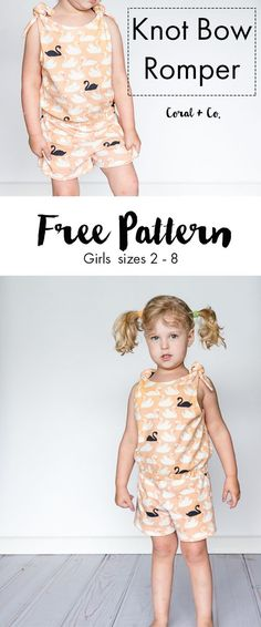 It's still summer and I have a Free Pattern for the Knot Bow Romper and an awesome giveaway from Fabricworm to celebrate the release of new line Swan Lake.