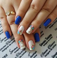How To Do Nails, Fun Nails, Pretty Nails, Unicorn Nails, Rose Nails, Nail Polish Art, Nail Candy, French Tip Nails, Best Acrylic Nails