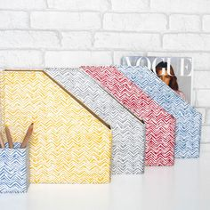 Our useful and stylish magazine files will brighten up any shelf or home office in these eye catching hand drawn prints. All our beautiful handmade stationery and storage products are produced in an eco-friendly way, from 100% recycled materials.