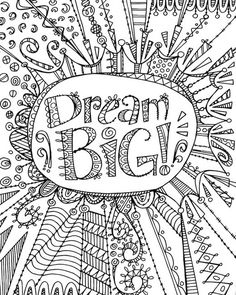 Color Me - Dream As Big As The Ocean | Coloring Canvas - Canvas On ...