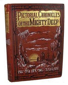 1885-VICTORIAN-MARITIME-SHIP-SAIL-OCEAN-SEA-EXPLORATION-PIRATE-SLAVE-SHARK-WRECK