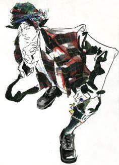 fashion illustration by Robert Wagt for VINYL Netherlands #robertwagt