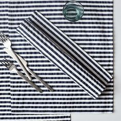 seersucker placemats.  perfect for summer eats.