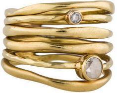 Ippolita 18K Glamazon Diamond Stack Ring