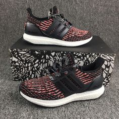 New Arrival Ultra Boost 3 vibrant primeknit red Black Noir Youth Big Boys Sneakers Nike Shoes 2017, Adidas Boost Running Shoes, Adidas Shoes, Popular Sneakers, Popular Shoes, Best Sneakers, Adidas Fashion, Fashion Shoes, Yeezy Shoes