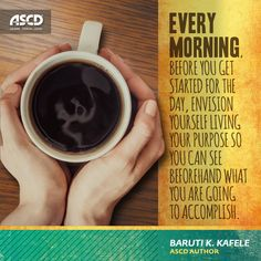 ASCD Author Baruti Kafele gives his dose of inspiration for #educators. Read more inspiration from his book, The Principal 50.