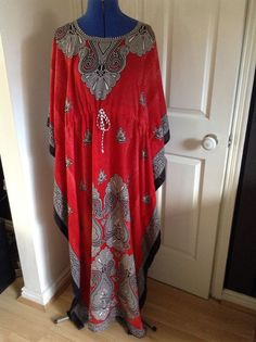 Ladies Womens full length KAFTAN one size