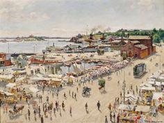 Helsingin Eteläsatama 1925 Hugo Backmansson