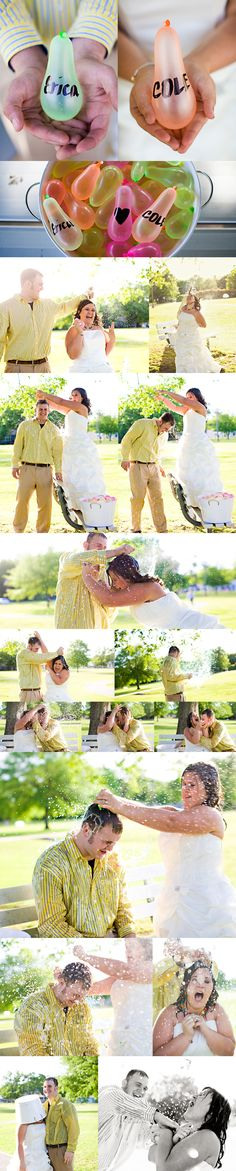 A must water balloon fight for trash the dress