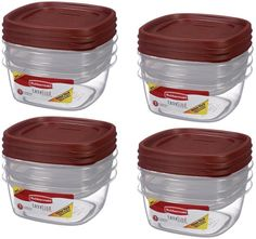 Rubbermaid Plastic Easy Find Lid Food Storage Set, 6-piece, 1777166 (4 Pack) * Be sure to check out this awesome product. (This is an affiliate link and I receive a commission for the sales)